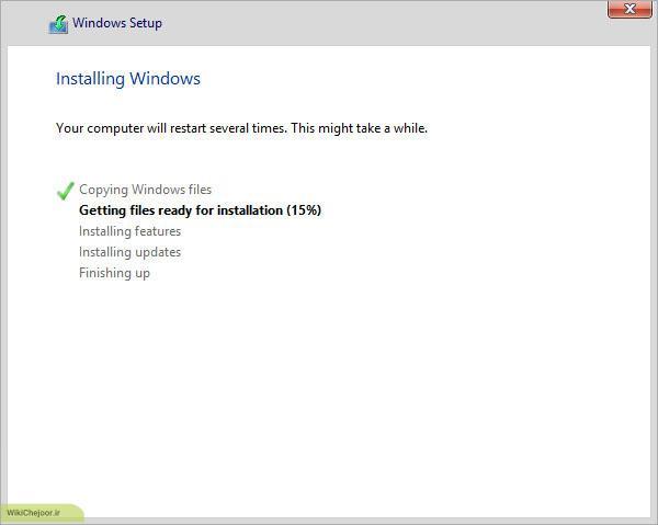 شروع به نصب ویندوز 8