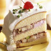 چگونه برش های کیک گیلاس اسفنجی با خامه بادامی تهیه نماییم ؟