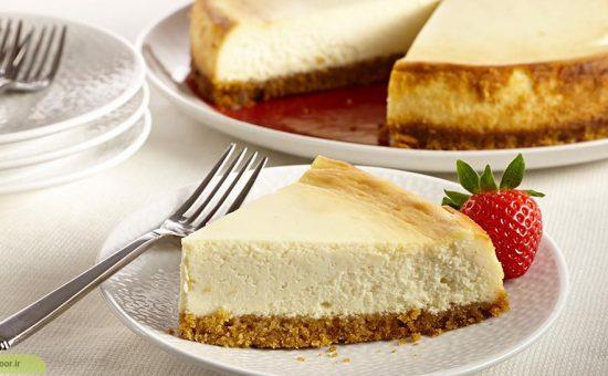 چگونه چیز کیک ساده چنتل تهیه کنیم ؟