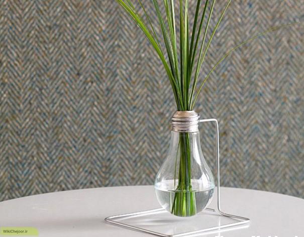 چگونه با استفاده از لامپ یک گلدان بسازیم ؟