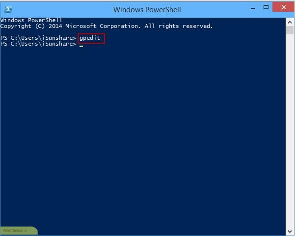 از طریق Windows PowerShell 01