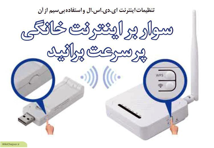 چگونه از ADSL به صورت wifi استفاده کنیم ؟