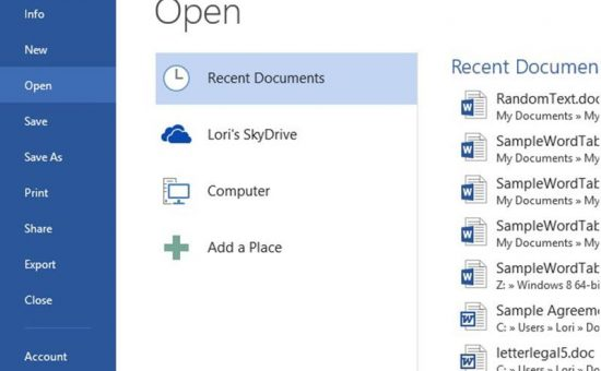 چگونگی دسترسی سریع به فایل های پرکاربرد درآفیس
