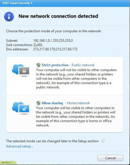 در این مرحله از نصب آنتی ویروس گزینه Allow Sharing را انتخاب کنید