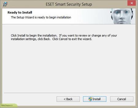 برای تکمیل نصب آنتی ویروس روی گزینه Install کلیک کنید