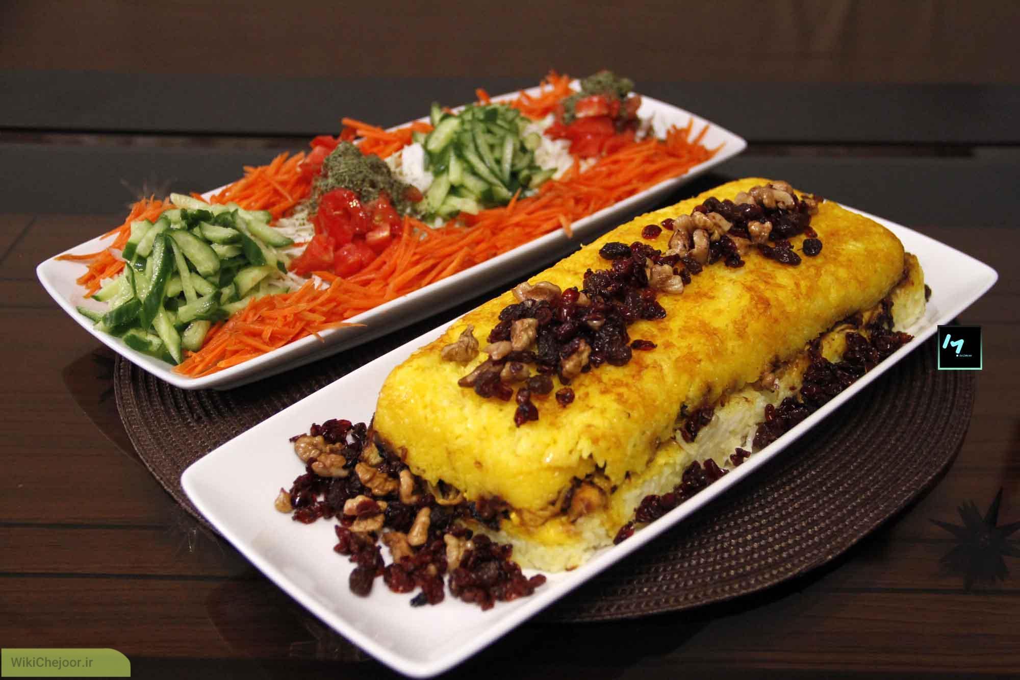 چگونه ته چین مرغ و بادمجان(شیراز)بپزم؟