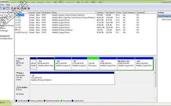 چگونه با Disk Management کار کنیم؟