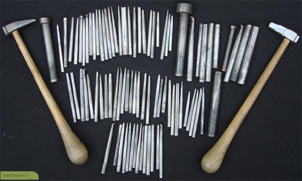 فلزات و ابزار و مواد مورد استفاده در هنر قلم زنی