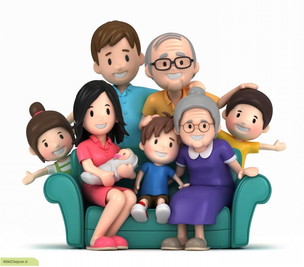 چگونه اعضای خانواده و فامیل را به زبان انگلیسی بیان کنیم؟؟