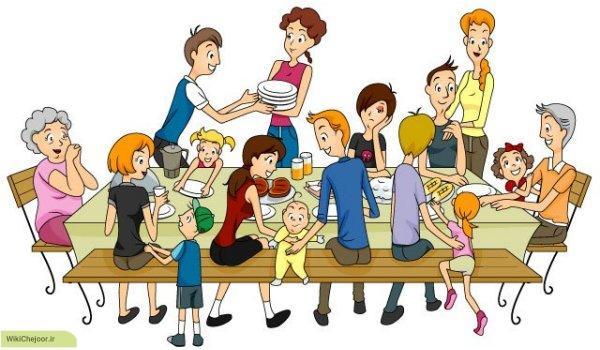 اعضای خانواده همسر به زبان انگلیسی
