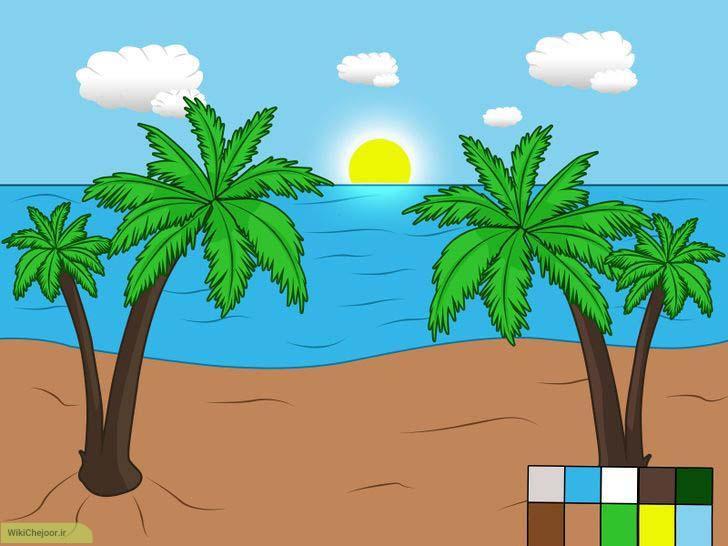 چگونه چشم اندازی از یک ساحل را رسم کنیم؟؟