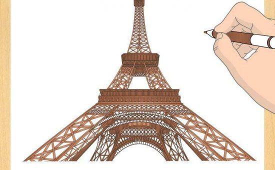 چگونه برج ایفل رسم کنیم؟؟