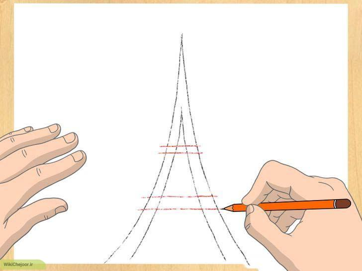 مراحل نمایش نمای سه بعدی برج ایفل