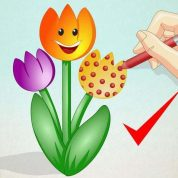 چگونه گل لاله رسم کنیم؟؟