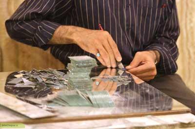 ابزار و مواد آینه کاری