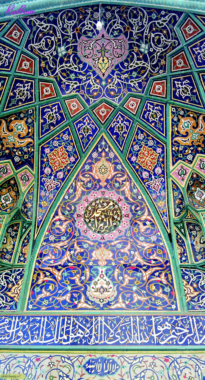 خط بنایی وسیله تزئینی در کاشی