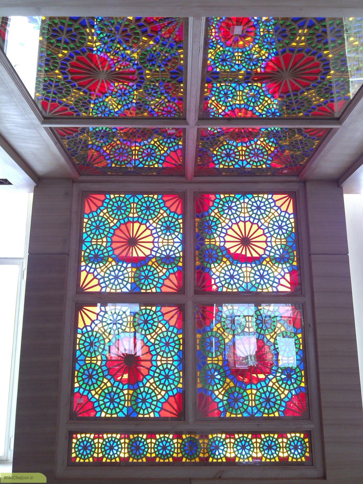 روش تولید شیشه رنگی