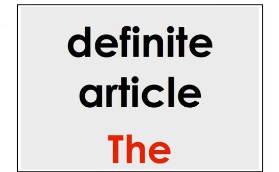 چگونه از حرف تعریف the در زبان انگلیسی استفاده کنیم؟