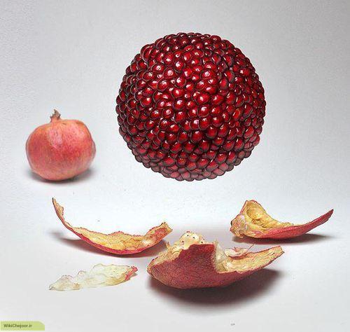 پوست میوه ی  انار