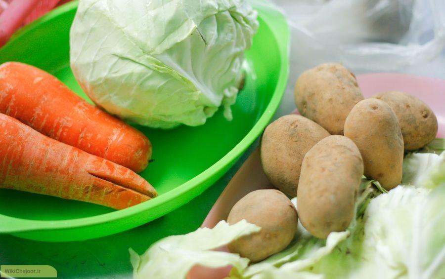 آماده سازی مواد غذایی