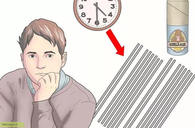 یک عدد لوله پی وی سی  دراز و نازک انتخاب کنید
