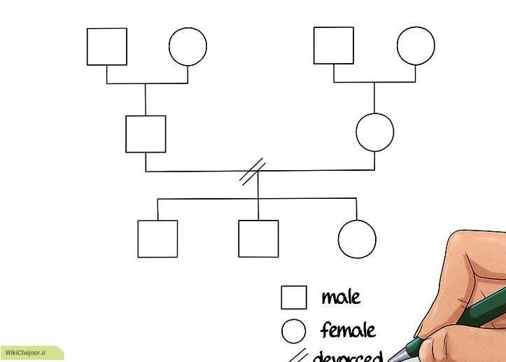 نحوه ی کشیدن نقشه خانوادگی