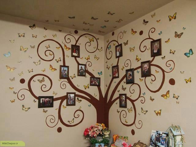 تزیین دیوار خانه مان با درخت خانواده (شجره نامه)