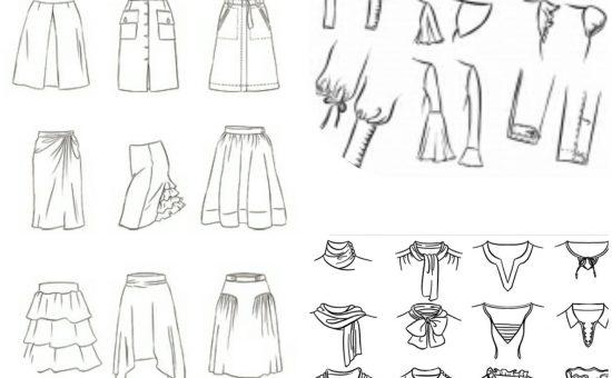 چگونه انواع الگوهای آستین ، یقه ، دامن تهیه کنیم ؟