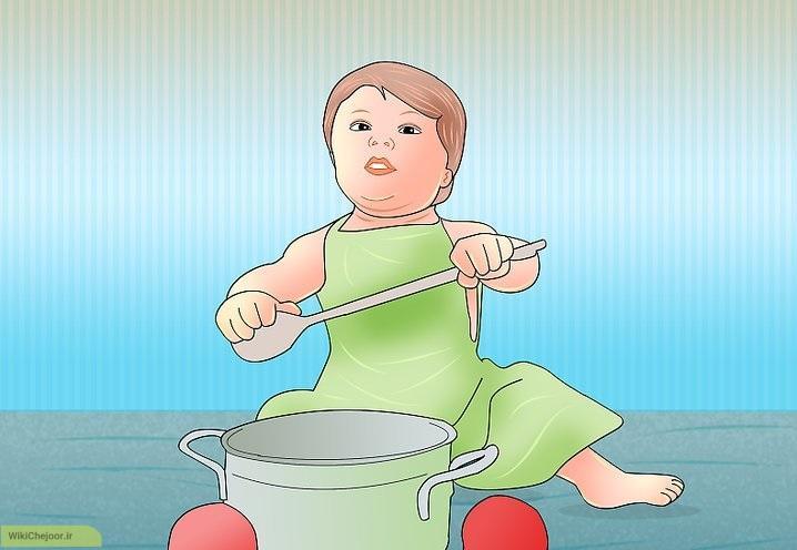 چگونه می توانیم یک نوزاد را سرگرم کنیم؟