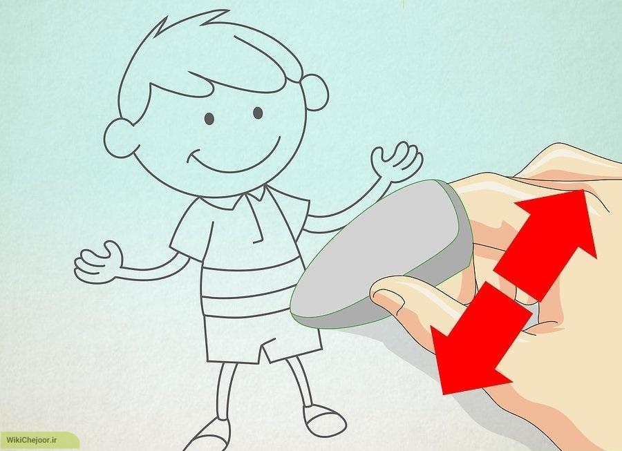 نقاشی پسر کارتونی