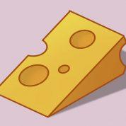 چگونه پنیر کارتونی نقاشی کنیم؟