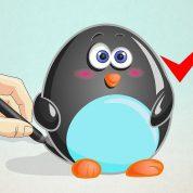 چگونه یک پنگوئن کارتونی نقاشی کنیم؟