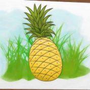 چگونه آناناس نقاشی کنیم؟