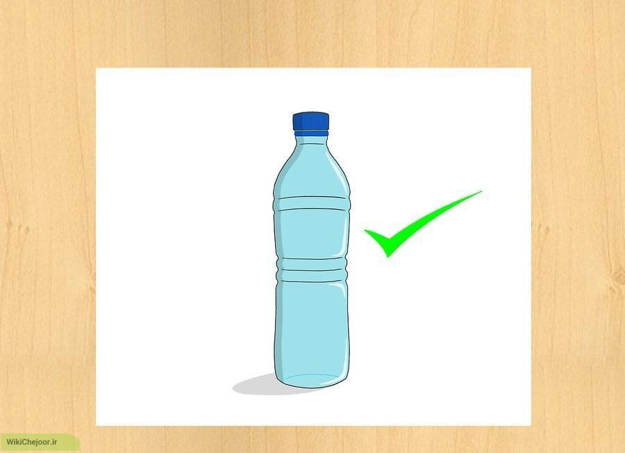 چگونه بطری آب رسم کنیم؟
