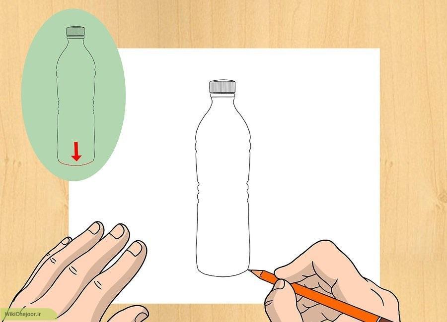 نقاشی بطری آب