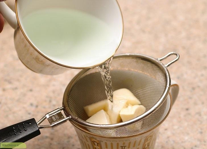 چای جعفری با ریشه جعفری