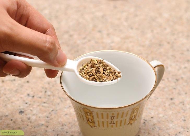 چای جعفری با تخم (دانه) جعفری