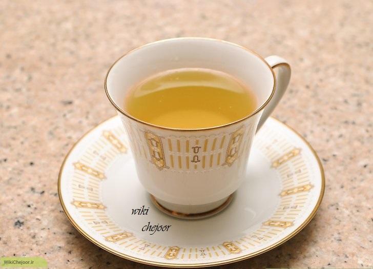 چای جعفری با برگ جعفری تازه
