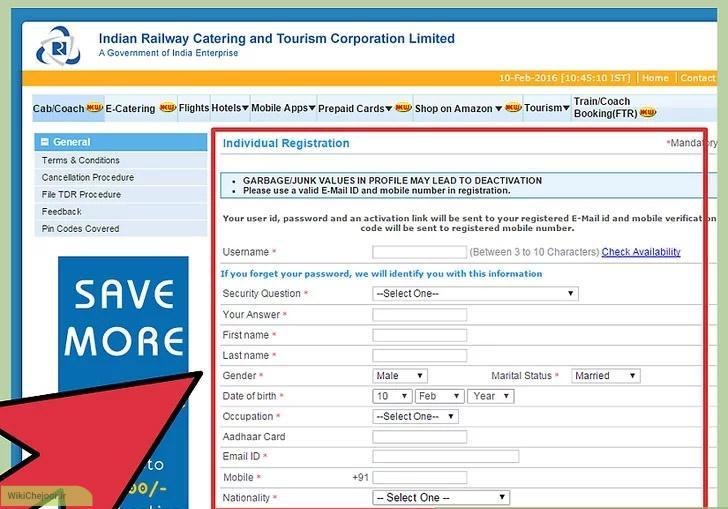 رزرو  آنلاين یک سفر در راه آهن های هندوستان