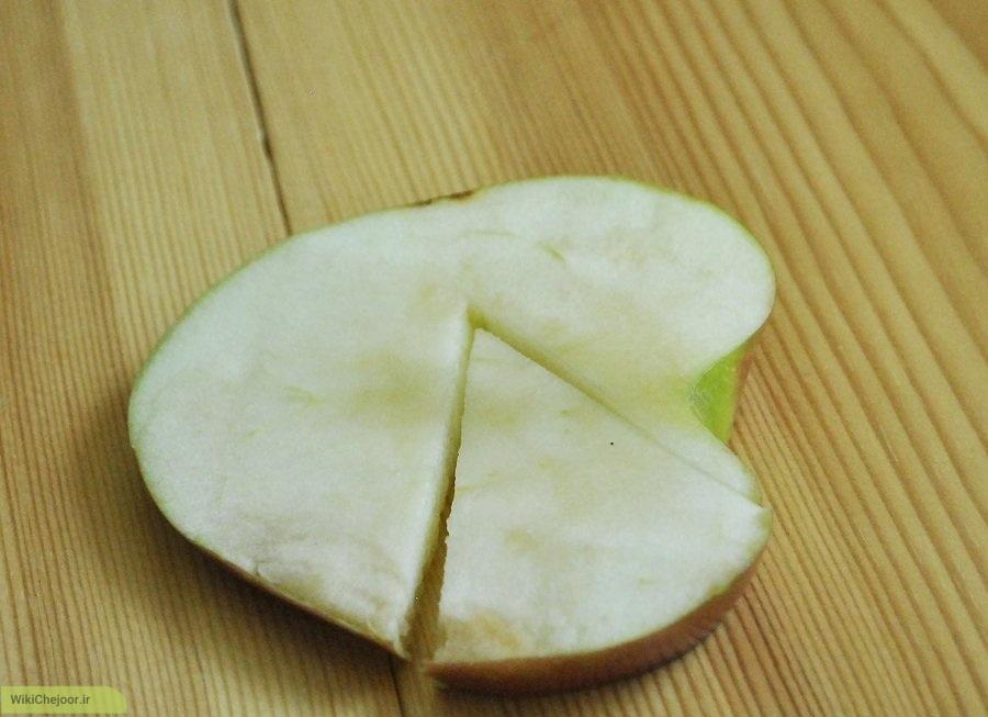 برش سیب