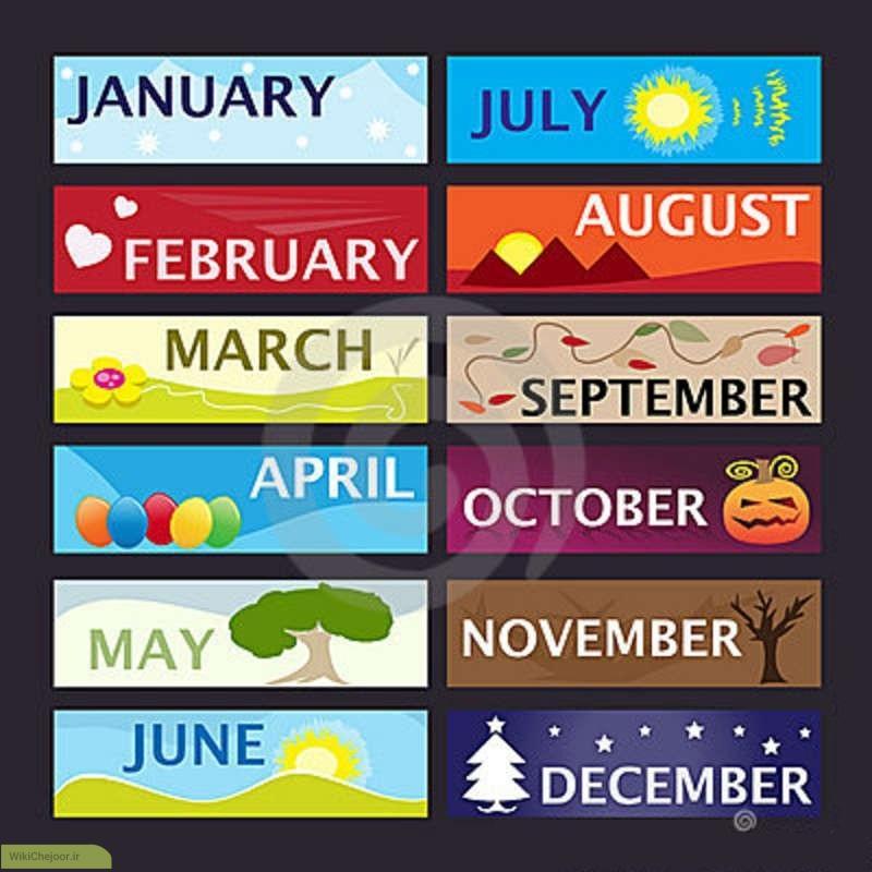 موارد مهم و کاربردی (روزهای هفته ، ماههای سال ، فصول سال ، اعداد ، رنگها و مشاغل)