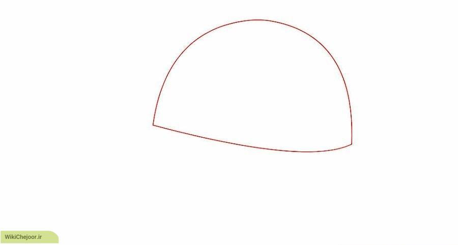 روش اول نقاشی کلاه بیس بال