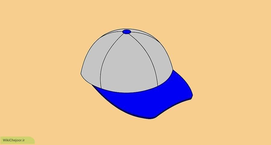 روش دوم نقاشی کلاه بیس بال