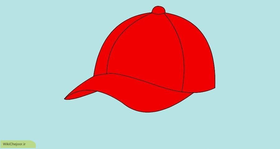 چگونه کلاه بیس بال نقاشی کنیم؟