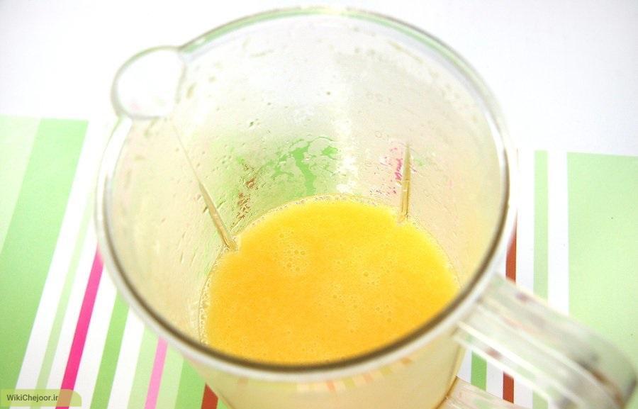 طرز تهیه آب میوه ی انبه با مخلوط کن