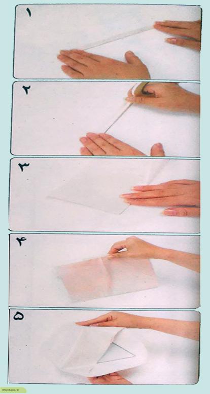 عروسک با پوم پوم چگونه جعبه ای به شکل مثلث متساوی الاضلاع را بسته بندی ...