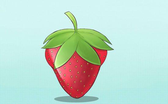 چگونه یک توت فرنگی زیبا نقاشی کنیم؟
