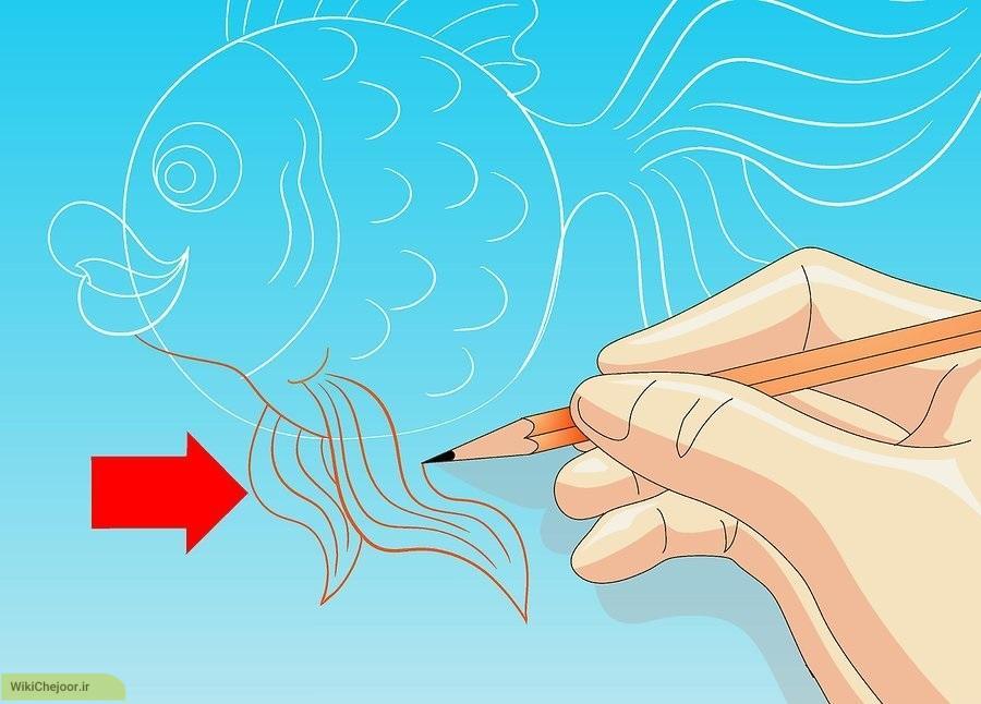 نقاشی ماهی کارتونی