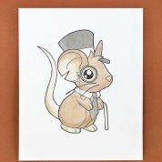 چگونه موش بامزه ی کارتونی نقاشی کنیم؟