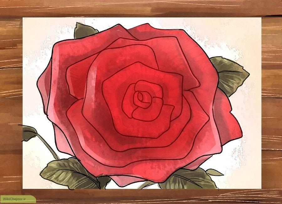 چگونه گل رز نقاشی کنیم؟